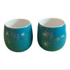 "Two David's tea teal bubble cups atomic design 3"""